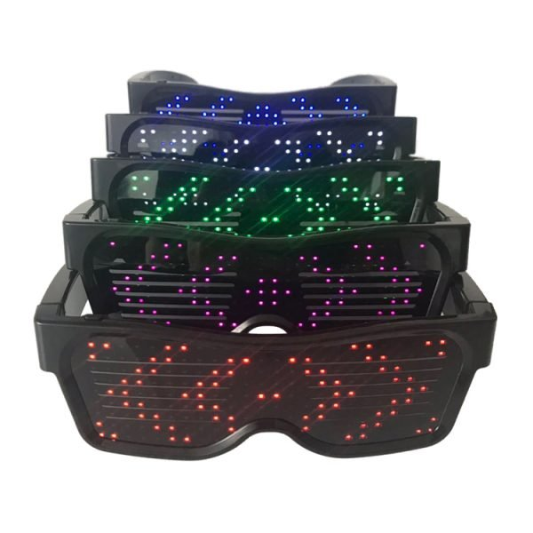 APP controlled rechargeable LED glasses