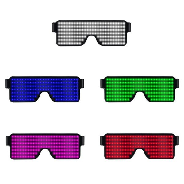 Rechargeable LED glasses