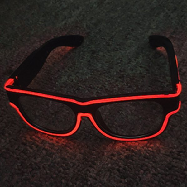 Rechargeable EL rave glasses