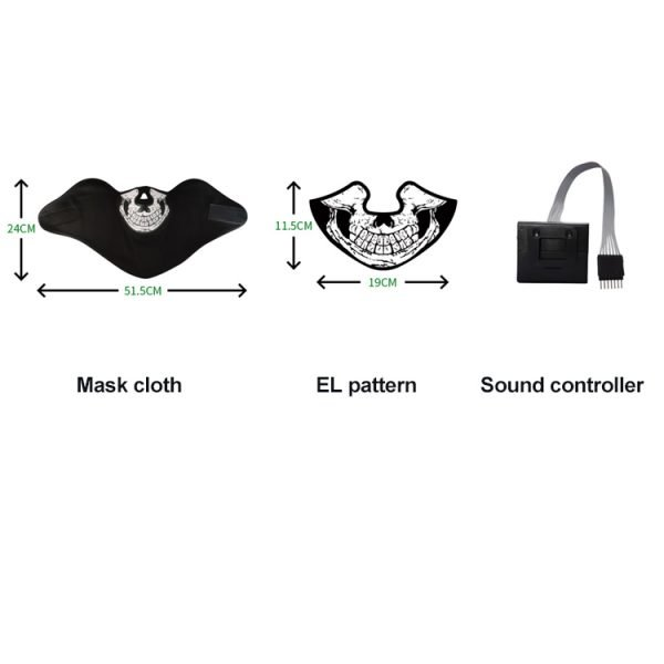 Sound controlled EL face shield