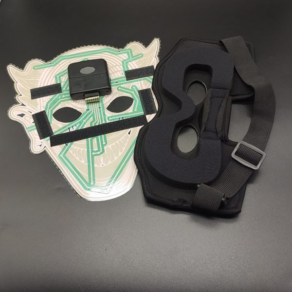 Sound controlled EL full face mask