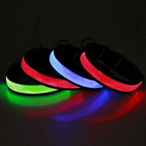 LED PVC reachargeable dog collar