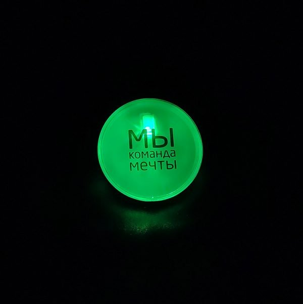 LED remote controlled badge