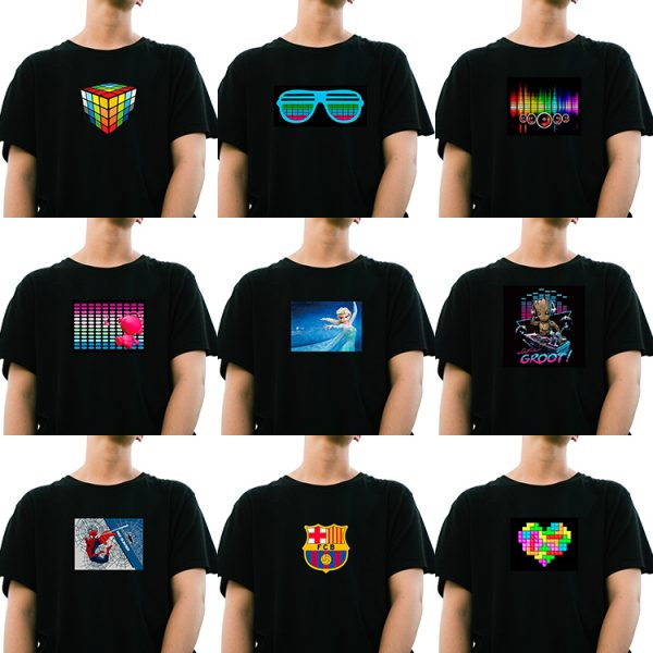 T13-LED sound activated T-shirt-6